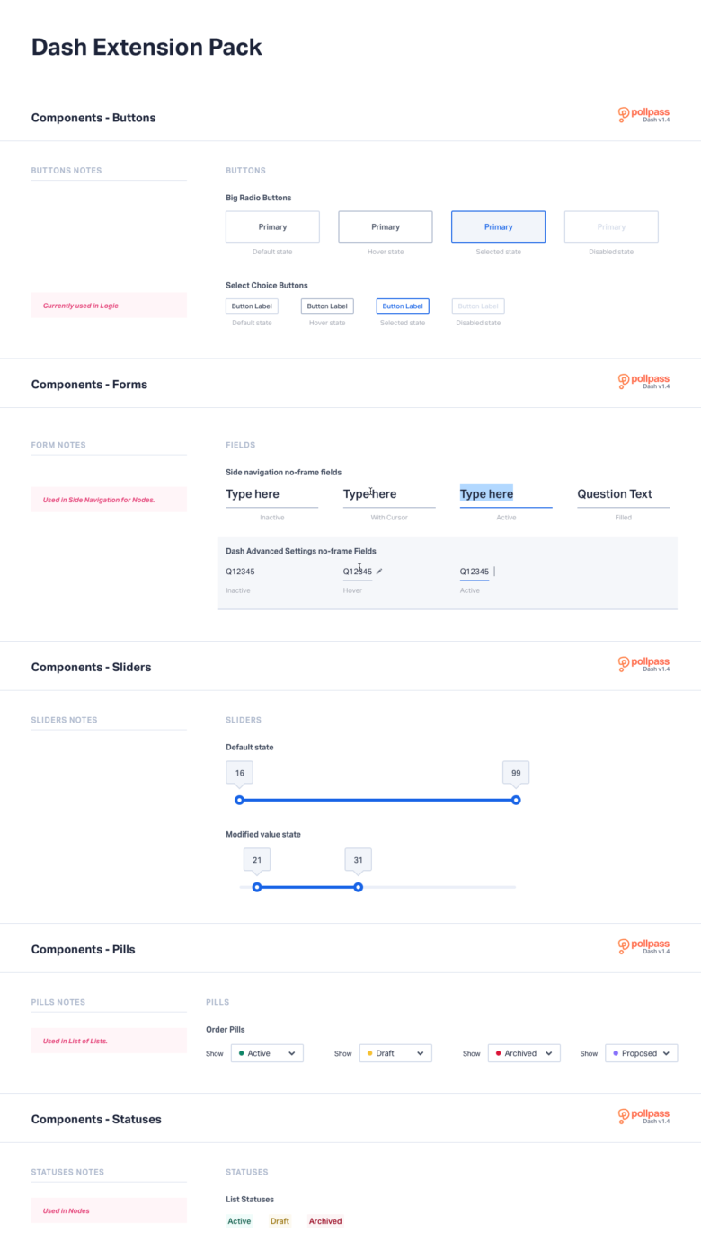 Pollpass UI Kit Components - Dash