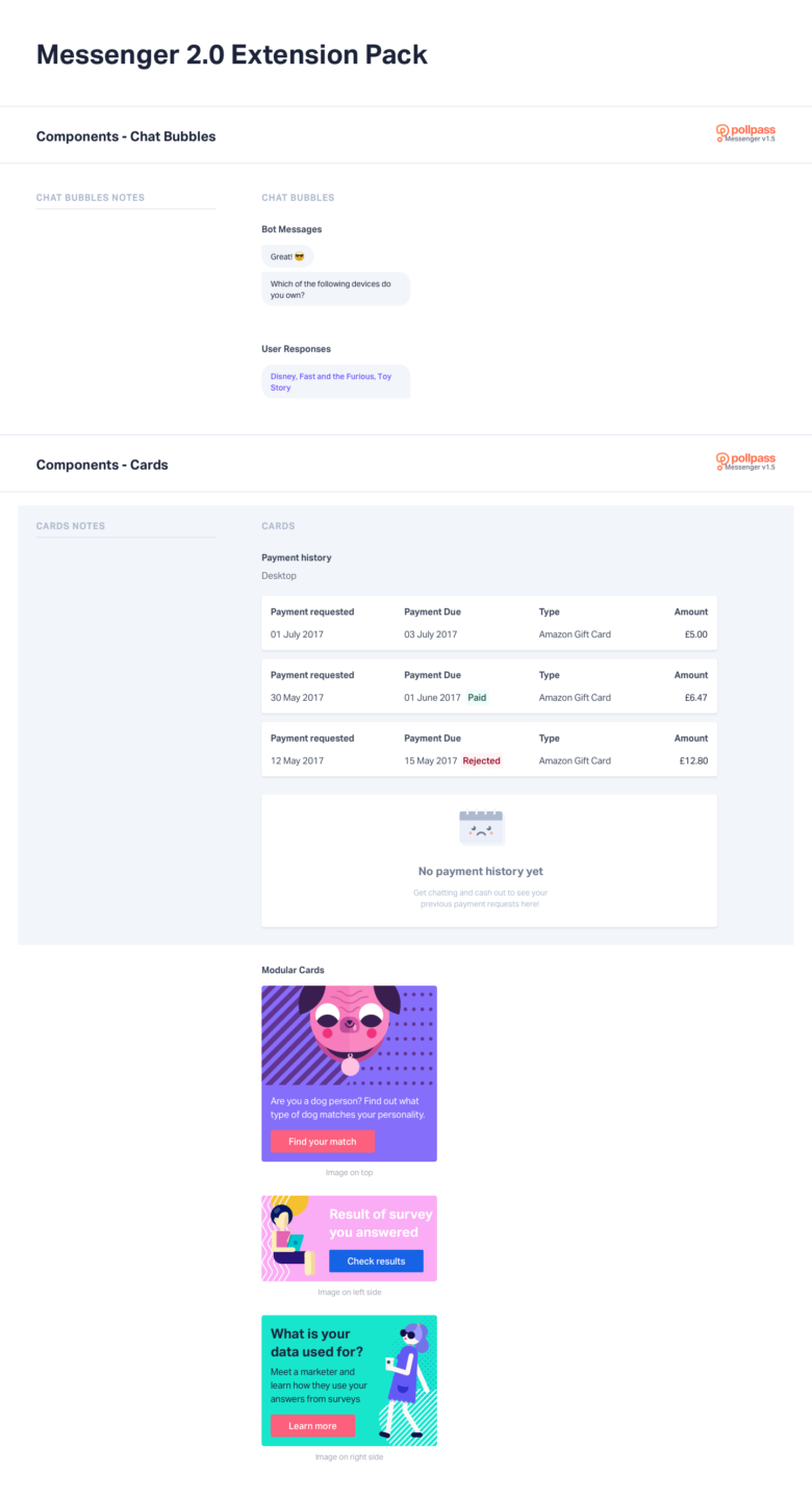 Pollpass UI Kit Components - Messenger