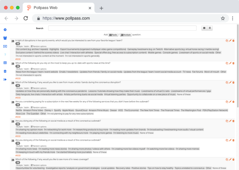 Pollpass Web Questions